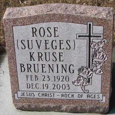 BRUENING, ROSE KRUSE - Cedar County, Nebraska   ROSE KRUSE BRUENING - Nebraska Gravestone Photos