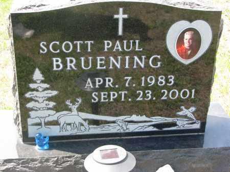 BRUENING, SCOTT PAUL - Cedar County, Nebraska | SCOTT PAUL BRUENING - Nebraska Gravestone Photos