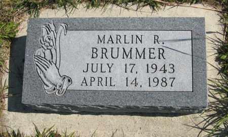 BRUMMER, MARLIN R. - Cedar County, Nebraska | MARLIN R. BRUMMER - Nebraska Gravestone Photos