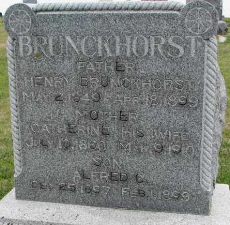 BRUNCKHORST, CATHERINE - Cedar County, Nebraska | CATHERINE BRUNCKHORST - Nebraska Gravestone Photos