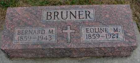 BRUNER, BERNARD M. - Cedar County, Nebraska | BERNARD M. BRUNER - Nebraska Gravestone Photos