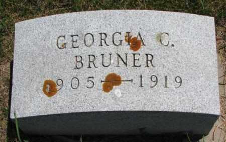 BRUNER, GEORGIA C. - Cedar County, Nebraska | GEORGIA C. BRUNER - Nebraska Gravestone Photos