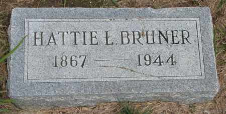 BRUNER, HATTIE L. - Cedar County, Nebraska | HATTIE L. BRUNER - Nebraska Gravestone Photos