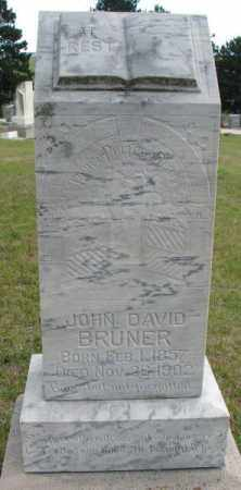 BRUNER, JOHN DAVID - Cedar County, Nebraska | JOHN DAVID BRUNER - Nebraska Gravestone Photos