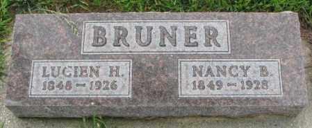 BRUNER, LUCIEN H. - Cedar County, Nebraska   LUCIEN H. BRUNER - Nebraska Gravestone Photos