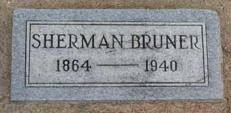 BRUNER, SHERMAN - Cedar County, Nebraska | SHERMAN BRUNER - Nebraska Gravestone Photos