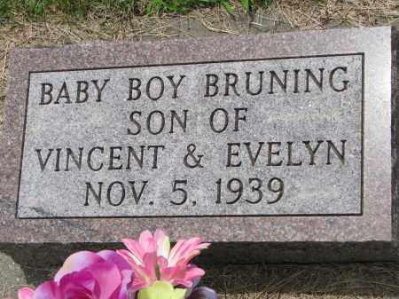 BRUNING, BABY BOY - Cedar County, Nebraska | BABY BOY BRUNING - Nebraska Gravestone Photos