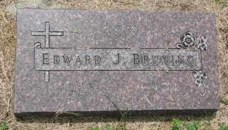BRUNING, EDWARD J. - Cedar County, Nebraska   EDWARD J. BRUNING - Nebraska Gravestone Photos