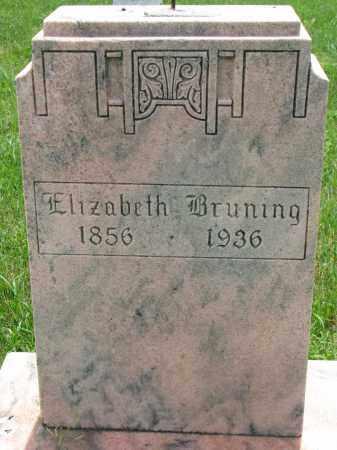 BRUNING, ELIZABETH - Cedar County, Nebraska | ELIZABETH BRUNING - Nebraska Gravestone Photos