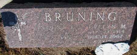 BRUNING, VINCENT F. - Cedar County, Nebraska | VINCENT F. BRUNING - Nebraska Gravestone Photos