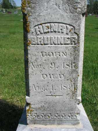 BRUNNER, HENRY (CLOSEUP) - Cedar County, Nebraska | HENRY (CLOSEUP) BRUNNER - Nebraska Gravestone Photos