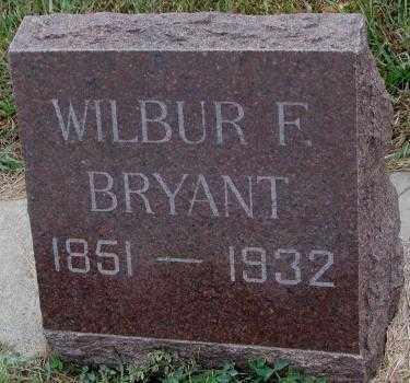 BRYANT, WILBUR F. - Cedar County, Nebraska | WILBUR F. BRYANT - Nebraska Gravestone Photos