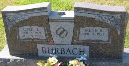 BURBACH, CYRIL L. - Cedar County, Nebraska | CYRIL L. BURBACH - Nebraska Gravestone Photos