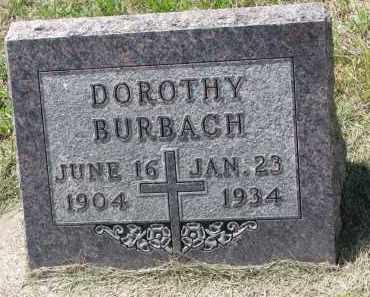 BURBACH, DOROTHY - Cedar County, Nebraska   DOROTHY BURBACH - Nebraska Gravestone Photos