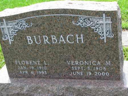 BURBACH, FLORENZ L. - Cedar County, Nebraska | FLORENZ L. BURBACH - Nebraska Gravestone Photos