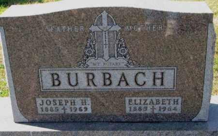 BURBACH, JOSEPH H. - Cedar County, Nebraska | JOSEPH H. BURBACH - Nebraska Gravestone Photos