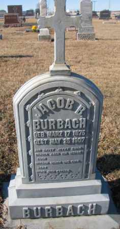 BURBACH, JACOB B. - Cedar County, Nebraska | JACOB B. BURBACH - Nebraska Gravestone Photos