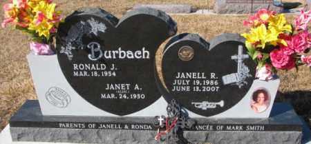 REZAC BURBACH, JANET A. - Cedar County, Nebraska | JANET A. REZAC BURBACH - Nebraska Gravestone Photos