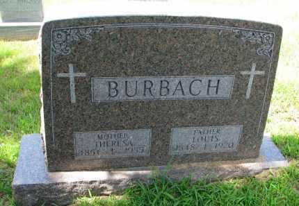 BURBACH, THERESA - Cedar County, Nebraska | THERESA BURBACH - Nebraska Gravestone Photos
