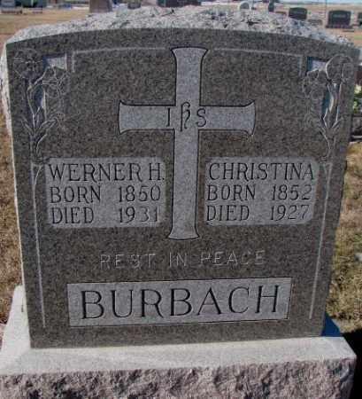 BURBACH, CHRISTINA - Cedar County, Nebraska | CHRISTINA BURBACH - Nebraska Gravestone Photos