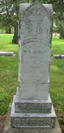 BURCH, CATHARINE ELLEN - Cedar County, Nebraska   CATHARINE ELLEN BURCH - Nebraska Gravestone Photos