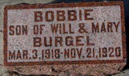 BURGEL, BOBBIE - Cedar County, Nebraska   BOBBIE BURGEL - Nebraska Gravestone Photos