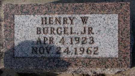 BURGEL, HENRY W. JR. - Cedar County, Nebraska | HENRY W. JR. BURGEL - Nebraska Gravestone Photos
