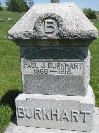 BURKHART, PAUL J. - Cedar County, Nebraska | PAUL J. BURKHART - Nebraska Gravestone Photos