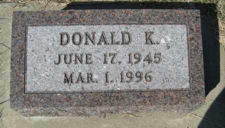 BURNEY, DONALD K. - Cedar County, Nebraska   DONALD K. BURNEY - Nebraska Gravestone Photos