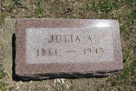 BURNEY, JULIA A. - Cedar County, Nebraska   JULIA A. BURNEY - Nebraska Gravestone Photos
