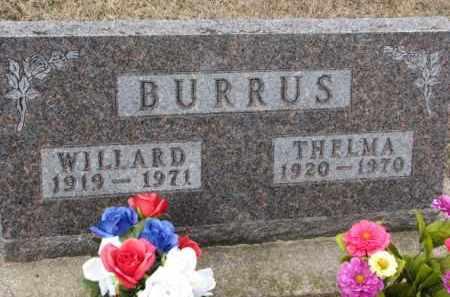 BURRUS, WILLARD - Cedar County, Nebraska | WILLARD BURRUS - Nebraska Gravestone Photos