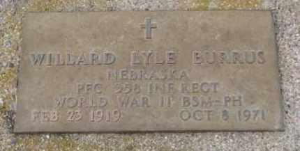 BURRUS, WILLARD LYLE (WW II) - Cedar County, Nebraska   WILLARD LYLE (WW II) BURRUS - Nebraska Gravestone Photos