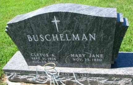 BUSCHELMAN, CLETUS A. - Cedar County, Nebraska | CLETUS A. BUSCHELMAN - Nebraska Gravestone Photos