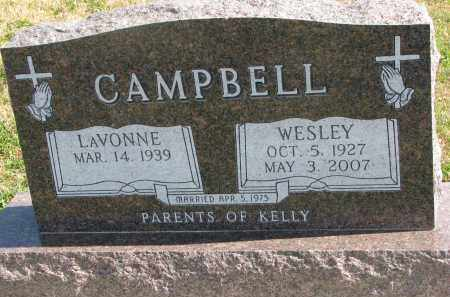 CAMPBELL, WESLEY - Cedar County, Nebraska | WESLEY CAMPBELL - Nebraska Gravestone Photos