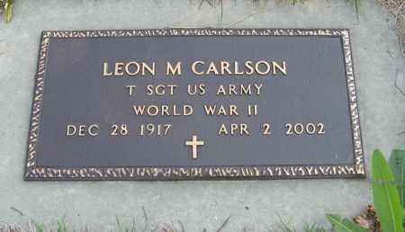 CARLSON, LEON M. (MILITARY MARKER) - Cedar County, Nebraska   LEON M. (MILITARY MARKER) CARLSON - Nebraska Gravestone Photos