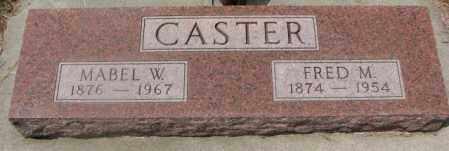 CASTER, MABEL W. - Cedar County, Nebraska | MABEL W. CASTER - Nebraska Gravestone Photos