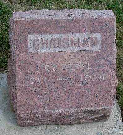 CHRISMAN, JOY BERYL - Cedar County, Nebraska | JOY BERYL CHRISMAN - Nebraska Gravestone Photos