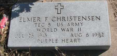 CHRISTENSEN, ELMER F. - Cedar County, Nebraska | ELMER F. CHRISTENSEN - Nebraska Gravestone Photos