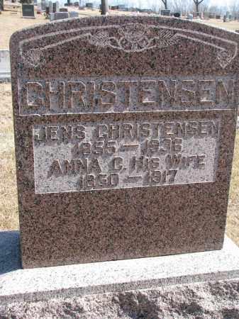 CHRISTENSEN, ANNA C. - Cedar County, Nebraska   ANNA C. CHRISTENSEN - Nebraska Gravestone Photos
