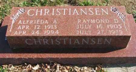 CHRISTIANSEN, RAYMOND D. - Cedar County, Nebraska | RAYMOND D. CHRISTIANSEN - Nebraska Gravestone Photos