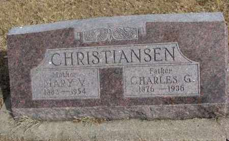 CHRISTIANSEN, MARY V. - Cedar County, Nebraska | MARY V. CHRISTIANSEN - Nebraska Gravestone Photos