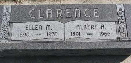CLARENCE, ALBERT A. - Cedar County, Nebraska | ALBERT A. CLARENCE - Nebraska Gravestone Photos