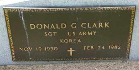 CLARK, DONALD G. (MILITARY) - Cedar County, Nebraska | DONALD G. (MILITARY) CLARK - Nebraska Gravestone Photos