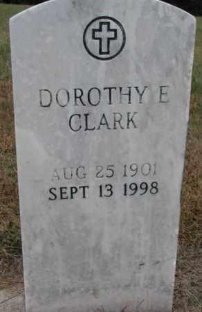 CLARK, DOROTHY E. - Cedar County, Nebraska   DOROTHY E. CLARK - Nebraska Gravestone Photos