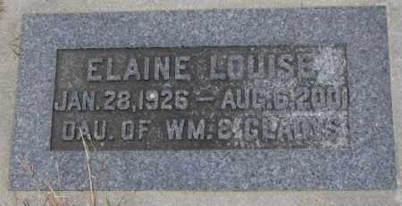CLARK, ELAINE LOUISE - Cedar County, Nebraska   ELAINE LOUISE CLARK - Nebraska Gravestone Photos