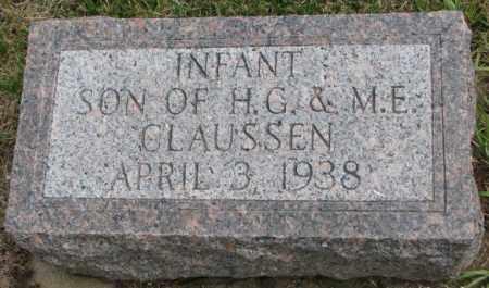 CLAUSSEN, INFANT SON - Cedar County, Nebraska | INFANT SON CLAUSSEN - Nebraska Gravestone Photos
