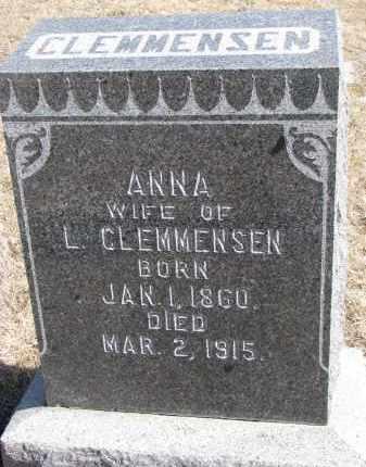 CLEMMENSEN, ANNA - Cedar County, Nebraska | ANNA CLEMMENSEN - Nebraska Gravestone Photos