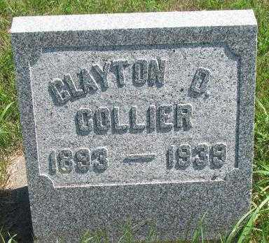COLLIER, CLAYTON D. - Cedar County, Nebraska | CLAYTON D. COLLIER - Nebraska Gravestone Photos