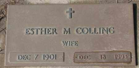 COLLING, ESTHER M. - Cedar County, Nebraska | ESTHER M. COLLING - Nebraska Gravestone Photos