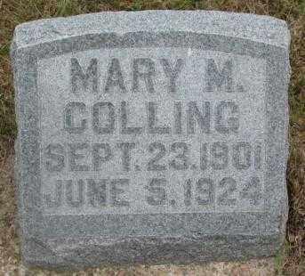 COLLING, MARY M. - Cedar County, Nebraska | MARY M. COLLING - Nebraska Gravestone Photos